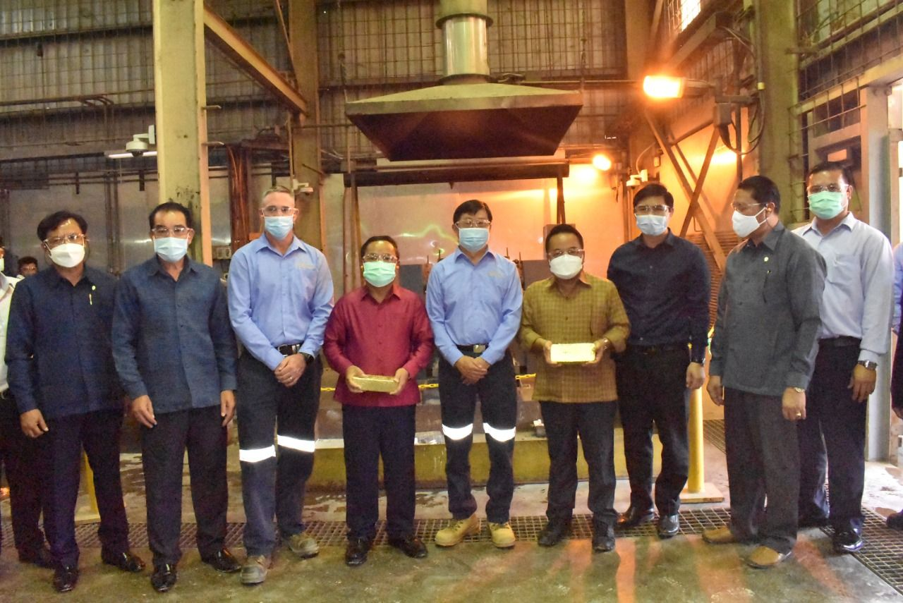 HE Mr Khamphanh Phommathat, Politburo Member and President Party Inspection Committee, Visits Sepon Mine