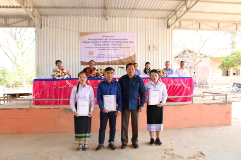 Lane Xang Minerals Limited Sepon hands scholarships and educational assistance packages to students in Vilabouly District